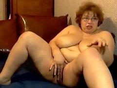 Granny With Huge Boobs Masturbating