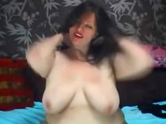 BBW Brunette Big Boobs Strip