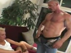 ES / Daddy with Huge Dick Fucks Blonde Twink