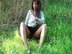 Ebony teen public nudity