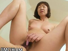 Traditional Japanese mom gets naked and fucks