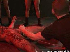 Billy Santoro in wax gets jerked off