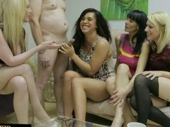 Dominas in group domination by tugging