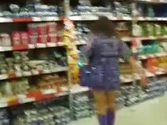 Show her pussy in a Market