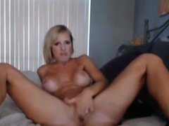 Big Tits Blonde MILF Dildoing