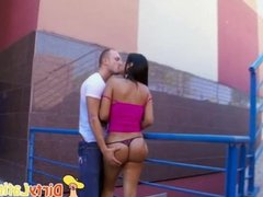 Latina Babe With Perfect Ass Public Blowjob