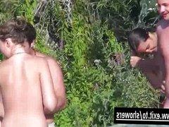 Shower Spy cams in Naturist Resort