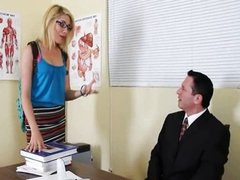 All this Blonde wants is to Fuck her Teacher