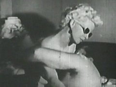 Vintage blonde pussy fucking like a pro