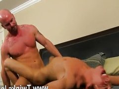Gay fuck He calls the skimpy dude over to