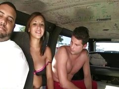 Young Cutie with Big Boobs on the Hump Bus