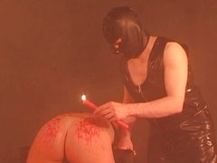 Candle wax for female slave