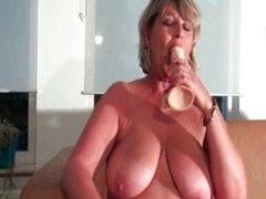Nasty blonde slut goes crazy fucking her