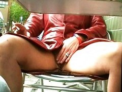 Amateur MILF nude and rude in public