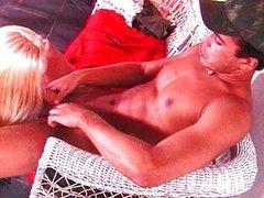 Blond shemale cock lusty cum