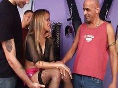 Ebony Mika Gets Big white cocks