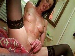 Sexy brunette sluts get horny fucking