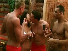 Extremely hard fuck in a sauna