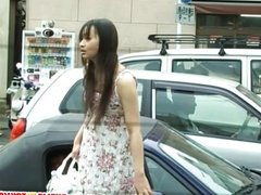 Naughty Asian chick in public