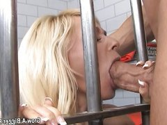 Long haired blonde babe riding a Big Cock