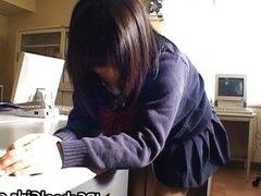 Cute Asian Schoolgril Enjoys