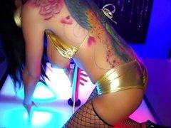 Romi Rain gets nasty on the stripper pole