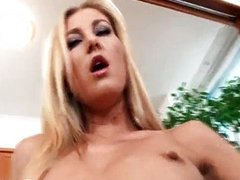 Sexy blonde girl loves to play with her