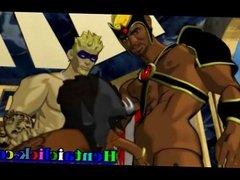 Big muscle gay group gangbanged fun