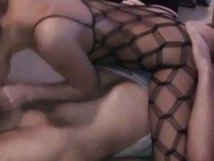 german brunette amateur fucked in catsuit