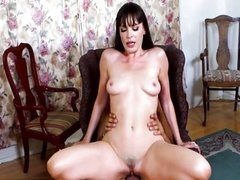 Natural tits cowgirl dick sucking