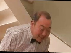 Japanese lecherous wife sex creampie