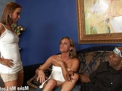 Two Horny Blonde Shared In One Huge