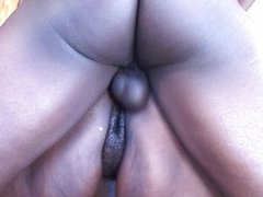 BBW blows and fucks him outdoor