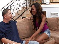 Black girl Karmin wants it hard