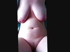 Stroking pussy after shaving landing strip