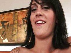Kayden Faye brunette handjob