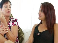 Teens Mom Teaches Her to Suck Cock
