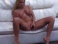 Jamie Brooks big tits pussy toying