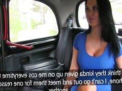 Busty Jasmine fucks in a taxi