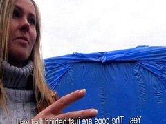 Eurobabe Zuzana pounded for some money