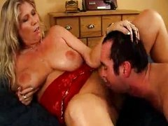 busty blonde mature fucking like a whore in h