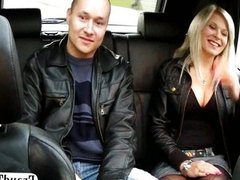 Wife fucks taxi driver in front of husband