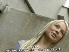 Czech Girl Hanka Gives Handjob for Money