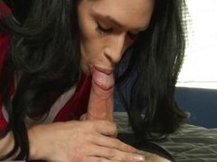 TS cheerleader Penny Tyler anal drilled
