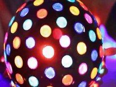 Sexy big boobed disco ball babe Alison Tyler