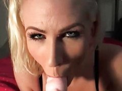 Amateur blonde stripping and toying
