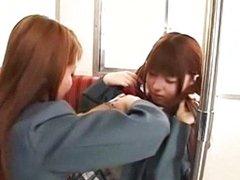 Schoolgirls In The Bus