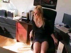 Spunk loving secretary Sarah Vandella gets he