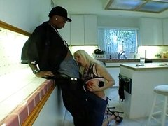 Blonde mature with black guy