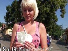Czech slut fucked with stranger for cash